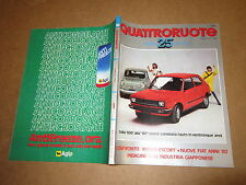 QUATTRORUOTE SPECIALE 25° 1956-1981 RITMO ESCORT FIAT ANNI 80