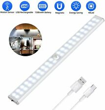 Lampes Placard 40 LED Sans Fil Rechargeable USB Aimanté Détecteur Mouvement Neuf