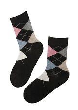 EDNA women's black warm angora yarn socks
