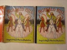 Buffalo Bill, Ingri & Edgar Parin d'Aulaire, DJ, 1952, stated 1st Edition
