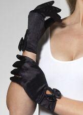 De Satén para Dama Look Guantes con Lazo Negra de Smiffys
