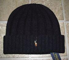 Men's $45. POLO-RALPH LAUREN Navy Wool Knit PONY Skull/ Beenie Hat