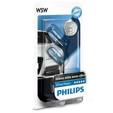 PHILIPS T10 W5W 12V 4300K WHITE VISION WHITE LIGHT HALOGEN REGO PARKER