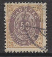 Denmark - 1903, 50 ore Brown-Purple & Brown stamp - Perf 12 1/2 - G/U - SG 86