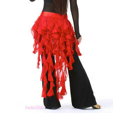 New Sexy Belly Dance Costume Hip Scarf Belt Waves tassel Skirt 14 colours