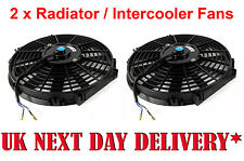 "Pair of Universal 9"" Electric super Cooling Radiator Intercooler Fans 9 Inch"