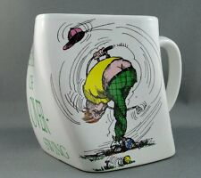 Coffee Mug Golf Novelty Result of Over-Swing Twisted Ceramic 1991 Gifts Inc 8 oz