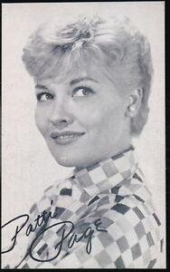 PATTI PAGE Singer Vintage Billboard Music Vending Arcade Exhibit Card Old B&W