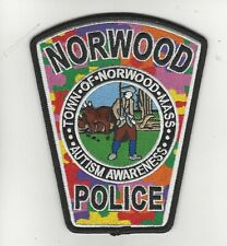 Norwood  Police- Autism Awareness Patch