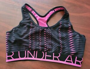 Under Armour Pink and Black Sports Bra Medium/Large