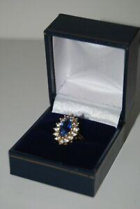14 Ct Gold Aexandrite & Zirconia Dress Ring