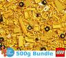 Genuine Lego 500g Bundle of Mixed Yellow Bricks Joblot + Free Minifigure