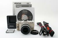 W/Strap! Pentax Q 12.4MP+02 Standard(5-15mm F2.8-4.5)lens from JP [Exc+++]641127