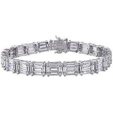 Amour Sterling Silver 20ct TGW Multi-Cut Cubic Zirconia Tennis Bracelet