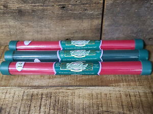3 Tubes Charles Craft Cross Stitch Fabric Classic Reserve Red and Green 14 Count
