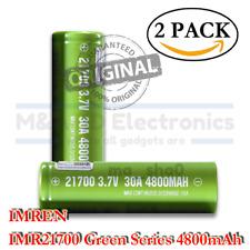 2x IMREN IMR 21700 Li-ion Rechargeable High Drain Battery 4800mAh Flat Top Vape