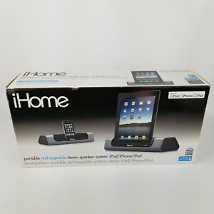 NEW!! iHome ID8 Rechargeable Dock Portable Speaker System for iPad iPhone iPod