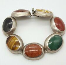 Wunderschönes 925 Silber Armband mit Steine -  Mexico Designer - 16.12.20