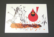 """Charles/Charley Harper Notecards """"Red and Fed"""" 4 Pack w/Envelopes"""