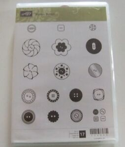 Stampin Up Cling Stamp Set ~ Button Button