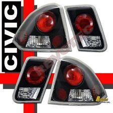 Black Tail Lights Lamps Rh Lh For 01 05 Honda Civic 4 Door Sedan Lx Dx Ex Gx Fits 2004 Honda Civic