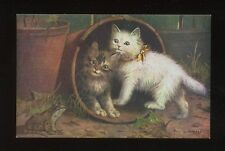 Cat Raphael Tuck & Sons Single Collectable Postcards