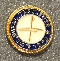 Authentic USNI US Naval Institute Pin  Navy Military Lapel Tie Tack Pinback