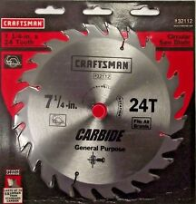 "Craftsman 32112 7-1/4"" x 24 Tooth Carbide Saw Blade"