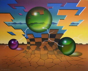 Randy Dunham - Surrealism Painting - Energizing into Pixels