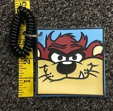 Looney Tunes Tazmanian Devil Face Rubber Keychain Used