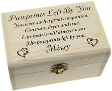 Wood Pet Memorial Ashes Casket Memory Box Urn Personalised Keepsake Dog Cat Urn
