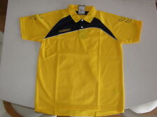 Football Soccer Sport Polo Shirt Unisex Hummel Polyester Grassroot XL Yellow NEW