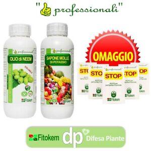 Olio di Neem idrosolubile 1L + Sapone molle di potassio 1L + OMAGGIO - KIT+BST5
