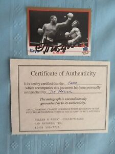 SIGNED ORIGINAL W/COA BOXING JOE FRAZIER KAYO ALL TIME GREATS BOXING CARD