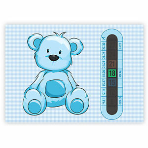 Baby Room Thermometers A6 Blue Teddy Bear