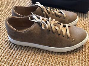 Polo Ralph Lauren JERMAIN Dark Tan Suede Sneakers 8.5.