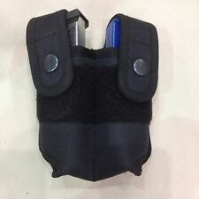 Double Magazine Case - Durable Nylon - Fits Most 9mm, .40, Single Stack .45 Mags