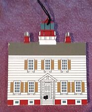 """CAT'S MEOW ORNAMENT ~ YAQUINA BAY LIGHTHOUSE, OR ~ """"FALINE '95"""" LIMITED EDITION"""