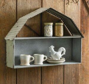 BARN WALL SHELF Galvanized Metal Kitchen Shelf Farmhouse Shelf MANGER 4 NATIVITY