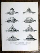 Gravure URBAIN DUBOIS Cuisine Artistique 1874 Caille Chapon Faisan Daim Bécasse