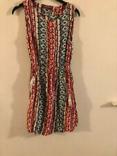 UK 8 Nouveau Uttam boutique Arctic imprimé robe de soirée 16