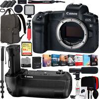 Canon EOS R Full-Frame Mirrorless Camera Body w/ BG-E22 Battery Grip Pro Bundle