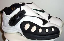 VINTAGE 1998 NIKE AIR ZOOM GP PAYTON WHITE/ BLK DARK CYPRESS SHOES 11.5 OG (90's