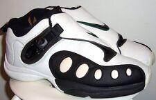 VINTAGE 1998 NIKE AIR ZOOM GP PAYTON WHITE/ BLK DARK CYPRESS SHOES 11.5 OG (90's