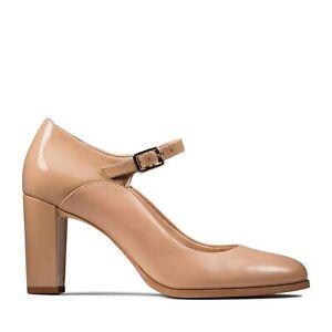 BNIB Clarks Ladies Kaylin Alba Praline Comination Leather Shoes