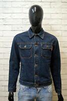 MELTIN POT Giacca Uomo Cotone in Jeans Taglia L Jacket Giubbotto Blu Giubbino
