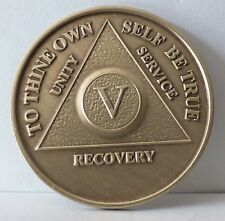 Alcoholic 5 Year Recovery 5 Yr Chip Medallion Coin Medal Token  AA Anonymous