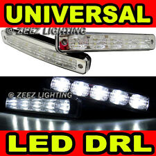 High Power Ultra Bright White 5 LED Daytime Running Light DRL Fog Lights Kit C95