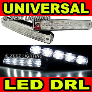 High Power Ultra Bright White 5 LED Daytime Running Light DRL Fog Lights Kit C99
