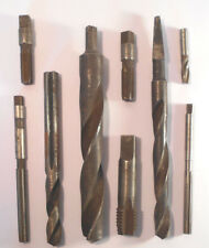 Lot of 9 Vintage Used Drill bit-lathe tools